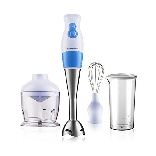 Blue Stir Sticks (Homeleader 3 in 1 Hand Blender, 220-watt Stainless Steel Hand Mixer, Whisk Attachment and Food Chopper,)