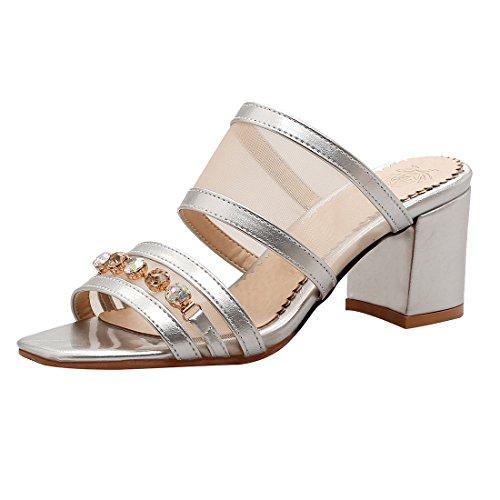 Argento sulla Aperte Caviglia Donna UH dwpqIp