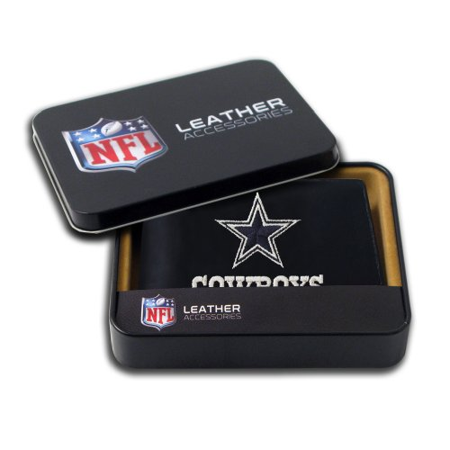 NFL Dallas Cowboys Embroidered Genuine Cowhide Leather Billfold Wallet Dallas Cowboys Embroidered Leather
