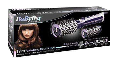BaByliss iPro 800 - Cepillo rotativo, 800 W, color violeta y blanco: Amazon.es: Salud y cuidado personal