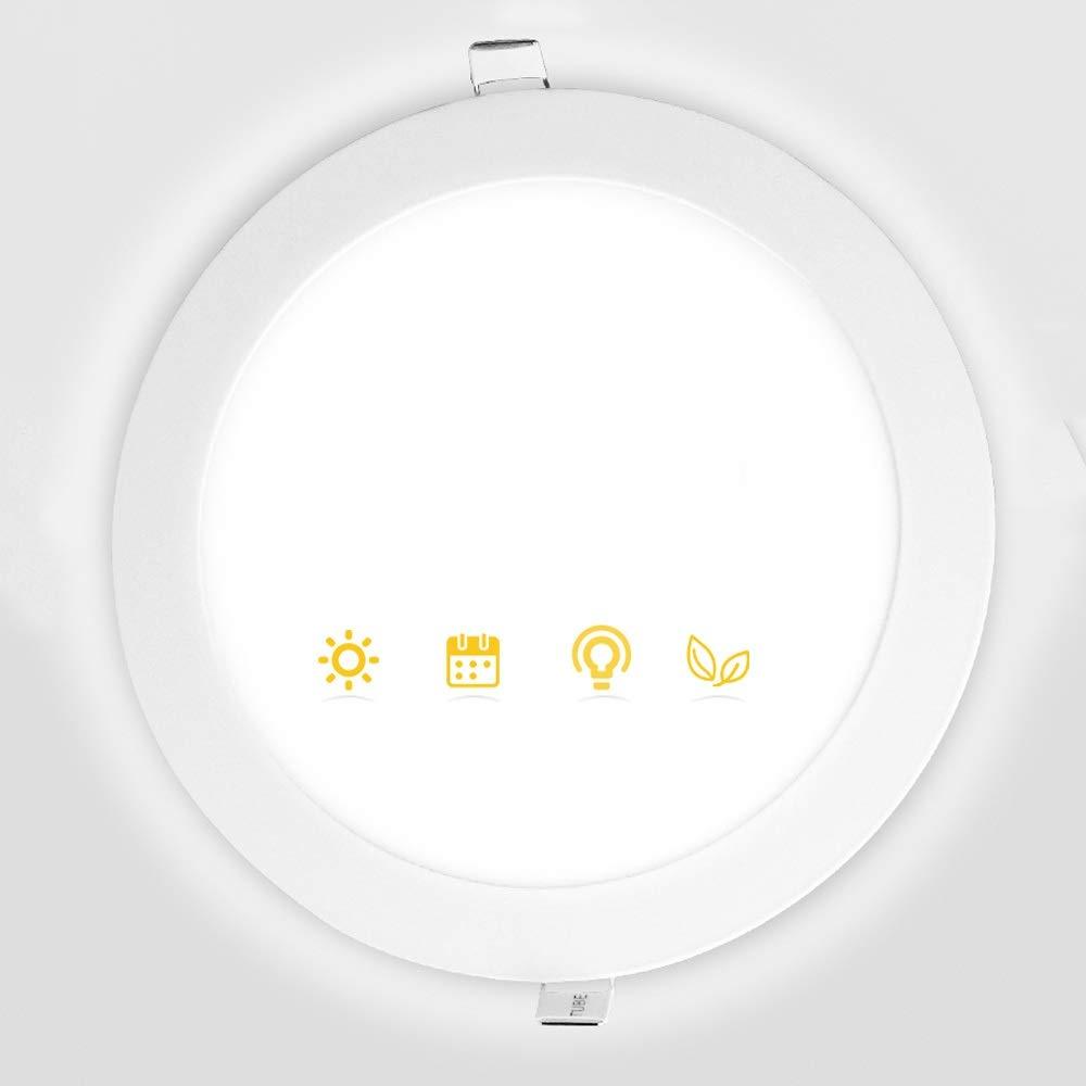 1W Wlnnes L/épaisseur 1CM a men/é le plafonnier enfonc/é Downlights de projecteur Le plafond rond ultra-mince dall/ée a enfonc/é lappareil d/éclairage AC110-240V CRI 85 100lm
