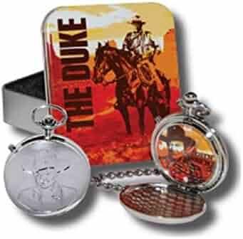John Wayne Men's Talking Pocket Watch with Tin