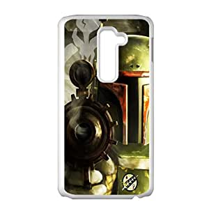 Droid War Design Plastic Case Cover For LG G2