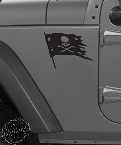 Pirate Decals - Jolly Roger Pirate Flag Vinyl Decal