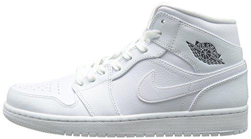 Jordan Mid cool Nike Grey 1 White Uomo Scarpe white Air Sportive SFwqwx7