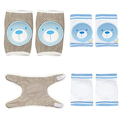 Baby Crawling Knee Adjustable Breathable Anti-Slip Infant Toddler Crawling Pads 2 Pairs