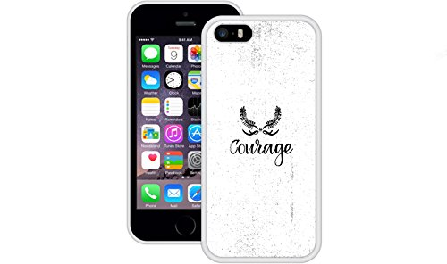 Mut | Handgefertigt | iPhone 5 5s SE | Weiß TPU Hülle