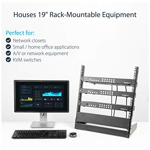 Startech Com 12u Open Frame Rack 19 Quot 2 Post Network Rack