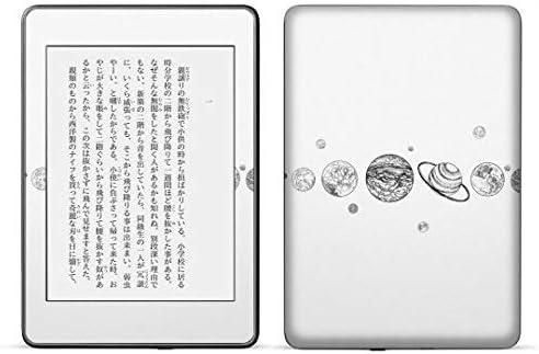 igsticker kindle paperwhite 第4世代 専用スキンシール キンドル ペーパーホワイト タブレット 電子書籍 裏表2枚セット カバー 保護 フィルム ステッカー 016149 地球 モノクロ