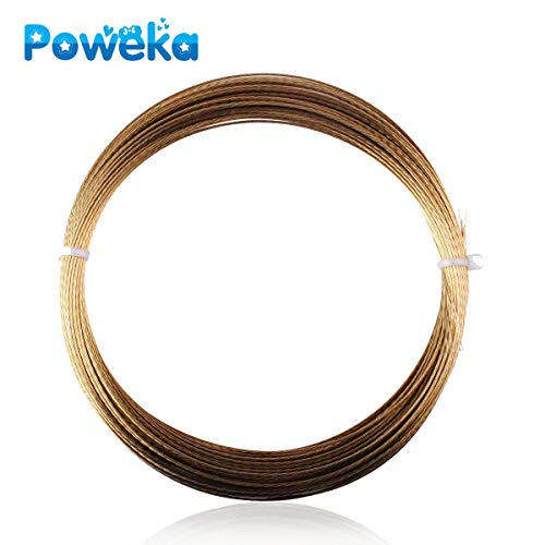 Poweka Windshield Cut-Out Wire,Auto Glass Removal Tool Accessories (20M Gold Color)