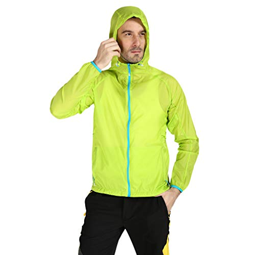 Jacket for Men Women Casual Windproof Hooded Jackets Ultra-Light Rainproof UV Protection YQZB Zipper Windbreaker Tops Green E-bomb Ultimate 4/3 Wetsuit