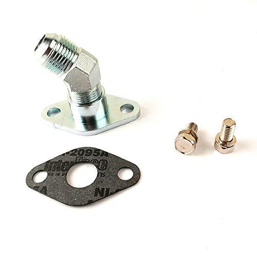 Smartturbo Steel 10AN Turbo Oil Drain Engine/Block side Flange For TOYOTA 1JZ/ 2JZ 45DEG