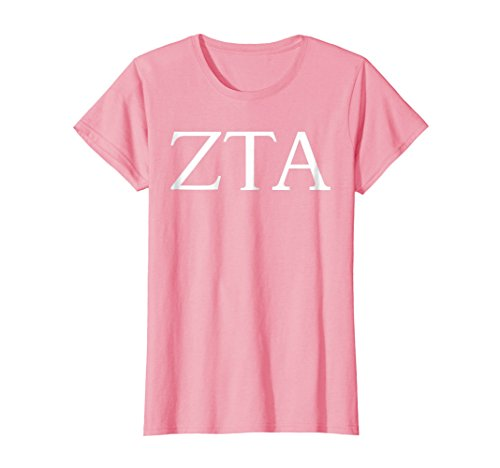 (Womens Zeta Tau Alpha Shirt College Sorority Fraternity Tee Medium Pink)