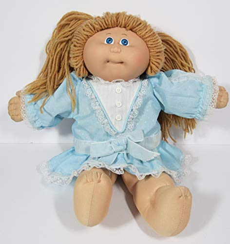 Coleco Vintage 1982 Cabbage Patch Doll in Original Blue Dress