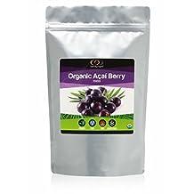 Organic Acai Berry Powder, 1/2 Lb (0.226 Kg) - The Highest Quality And Most Bioactive Pure Acai Berry Powder