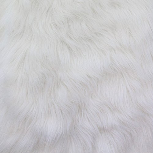 Faux Fur Luxury Shag White 60 Inch Wide Fabric By the Yar...