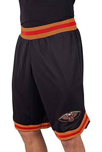 NBA New Orleans Pelicans Men's Mesh Basketball Shorts Woven Active Basic, Large, Black