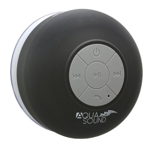 Aduro Aquasound Wsp20 Shower Speaker  Portable Waterproof Wireless Bluetooth Speaker  Black