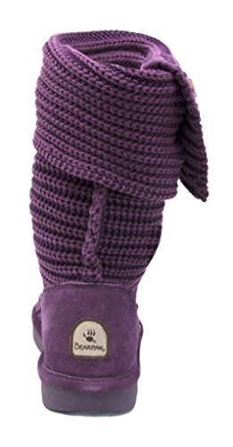 Bearpaw Calf Women's Boot Plum Wool Knit Mid Tall awHaIqgv4