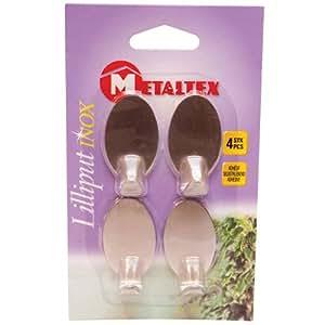 Metaltex 294504 4 Piece Lilliput Adhesive Hook