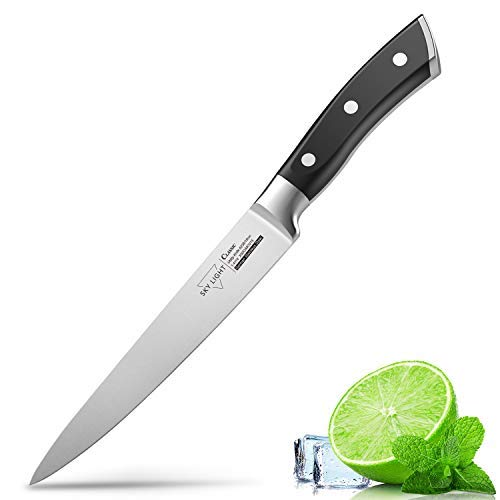 Utility Knife for Kitchen 6 Inch Chef Knife, German High Carbon Stainless Steel Kitchen Knives with Ergonomic Handle by SKY LIGHT