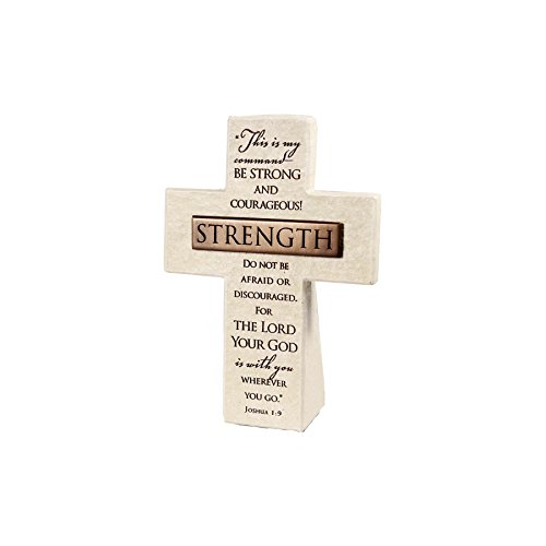 Lighthouse Christian Products Strength Title Bar Desktop Cross, 5 1/2 x 4