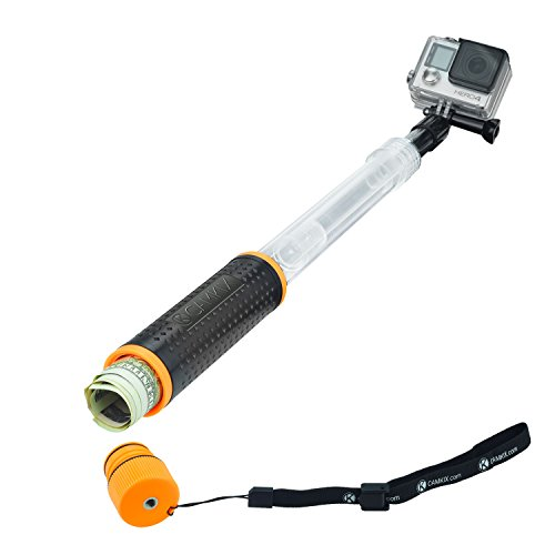 CamKix Compatible Waterproof Telescopic Pole Floating Hand Grip - Compatible with Gopro Hero 7, 6, 5, Black, Session, Hero 4, Session, Black, Silver, Hero+ LCD,