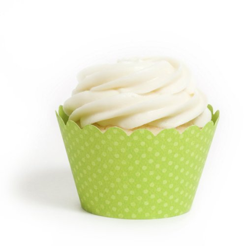 Dress My Cupcake Green Wrappers