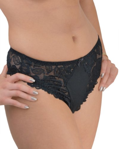 Ändern Dessous, English Rose Spitze Detaillierte Hohe Taille Tanga