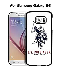 Galaxy S6 Funda Case Brand Logo POLO (Polo) Ralph Lauren Plastic Anti Scratch Vintage Drop Proof Customized Compatible with Samsung Galaxy S6