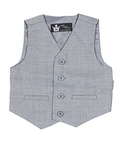Littlest Prince Couture Infant/Toddler/Boys Gray Suit Vest (Boys Gray Vest)