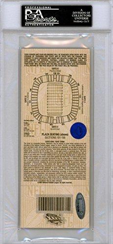 Tom Brady Autographed SB XXXVI Ticket New England Patriots 1st SB Win PSA/DNA #83975263