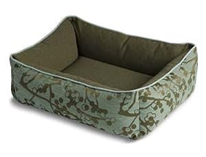 Pet Bed Bumper Cherry Teal Bed, Small/Medium