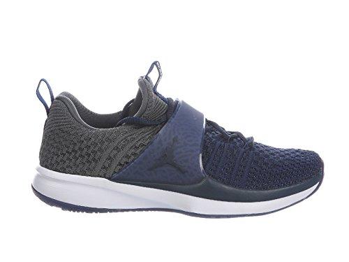 Jordan Men's Trainer 2 Flyknit College Navy/College Navy/Dark Grey/White Nylon Running Shoes 13 M US