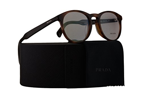 Prada PR19SVF Eyeglasses 50-20-140 Brown w/Demo Clear Lens U6J1O1 VPR19SV VPR 19SV PR - Eyeglass Trends 2017 Womens