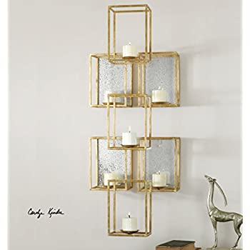 Amazon.com: Extra Large Contemporary Geometric Wall Candle ...