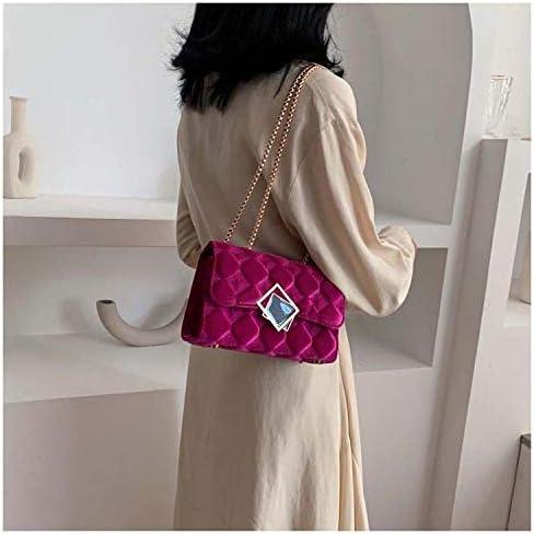 Clutches Femme Sacs Bandoulière Chaîne De Verrouillage De Mode Texture Simple Petit Sac Carré Sac À Bandoulière Messenger