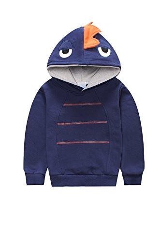 Canvos Sleeve Dinosaur Pullover Sweatshirt