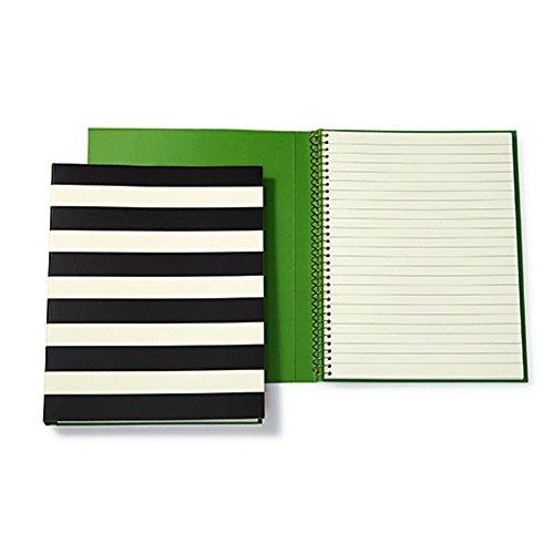 Kate Spade Spiral Notebook - Black Stripe by Kate Spade New York