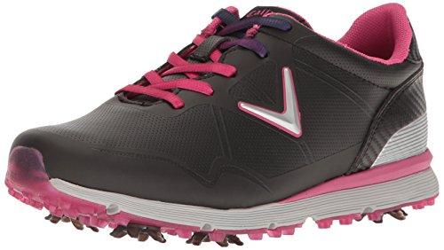 Callaway Women's Halo Golf Shoe, Black/Pink, 7.5 B US