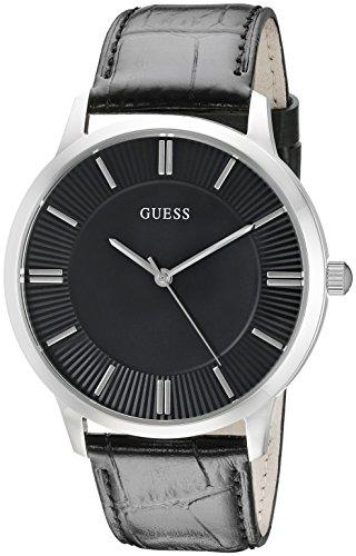 GUESS U0664G1 Silver Tone Genuine Leather