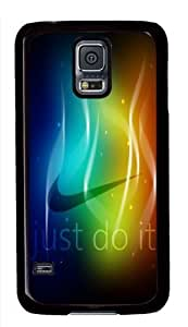 Colorful Nike Just Do It Black PC Case for Samsung Galaxy S5
