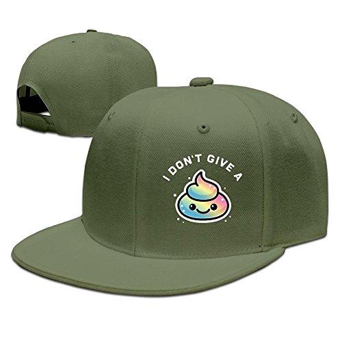 Sdkkfbha Rainbow 'I Don't Give A Poop Unisex Adjustable Flat Visor Hat Baseball Cap