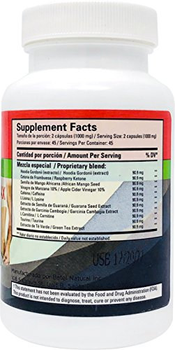 Adelgazamax Capsules by Betel Natural - Weight Loss Supplement with Apple Cider Vinegar & Garcinia Cambogia - 90 Count by Betel Natural (Image #1)