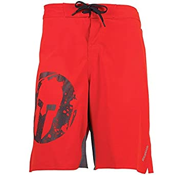 "c07417a8bf Mens Reebok Spartan Race Board Shorts Red Guys Gents (Size XXL Waist  38-40"""