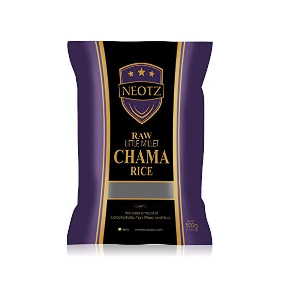 NEOTZ Raw Little Millet Chama Rice (500 gm)