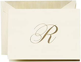 """product image for Crane & Co. Hand Engraved Script""""R"""" Initial Note (CF13R1)"""