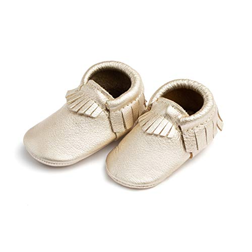 Freshly Picked Moccasin Mini Sole, Platinum, Size 3 (Picked Freshly)
