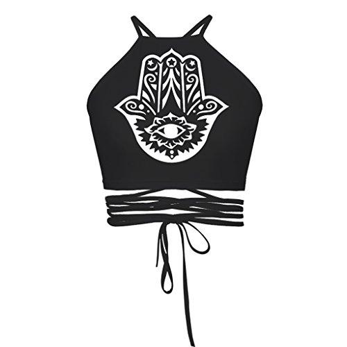 Jiayiqi Mujeres Moda Blusas Bustier Bra Chaleco Cultivo Bralette Cami Hamasamano