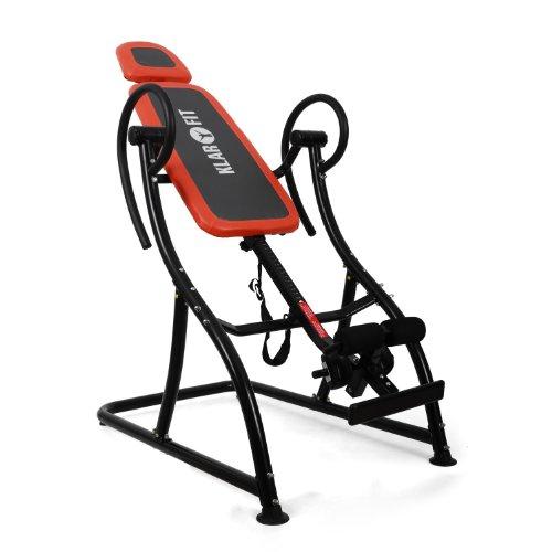Klarfit Relax Zone Pro Inversionsbank Rücken Hang-Up Rückentrainer (bis 150 kg, verstellbar, leichte Montage) (schwarz-orange)